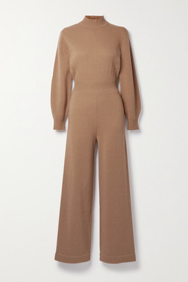Theory Wool-blend Jumpsuit - Camel