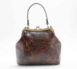 Patricia Nash Leather Laurena Frame Bag with Mirror Fob