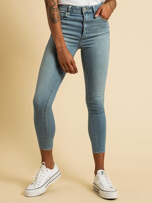 Articles of Society High Lisa Skinny Ankle Jeans in Blue Denim