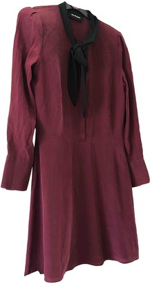 The Kooples Spring Summer 2019 Burgundy Silk Dresses