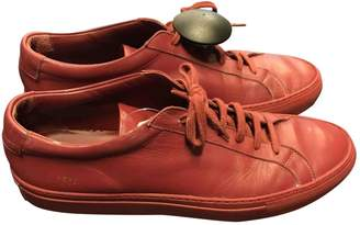 Common Projects Red Leather Trainers