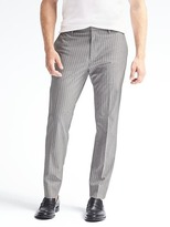 Banana Republic Slim Non-iron Stretch Cotton Stripe Pant
