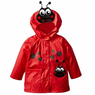 LvRao Girls Floral Waterproof Raincoat Windproof Jacket or Trousers Hooded Coat Outdoor Pants