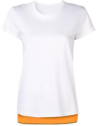 No.21 contrast back T-shirt