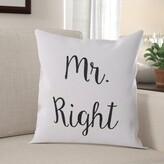 Quercia Mr. Right Throw Pillow (Set of 2) Winston Porter