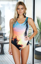 rhythm Islander Sunset Print One Piece Swimsuit