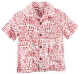 Carter's Short-Sleeve Hawaiian Button-Front Shirt