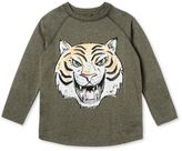 Stella McCartney max khaki tiger face t-shirt