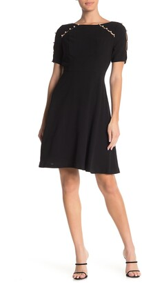 Shani Fit & Flare Crepe Dress