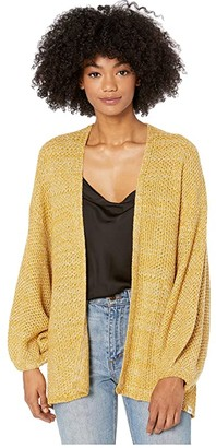 Rip Curl Warm Up Cardigan (Gold) Women's Clothing