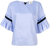 Semi-Couture Semicouture pleat sleeved shirt
