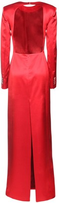 Giuseppe di Morabito Wool Blend Satin Dress W/ Back Cutout