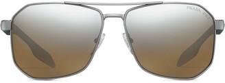 Prada Linea Rossa square-frame sunglasses