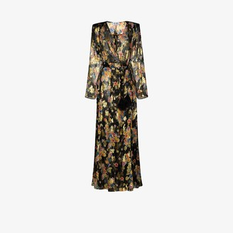 ATTICO Floral-Print Wrap Maxi-Dress