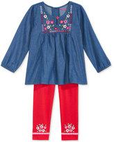 Nannette 2-Pc. Chambray Shirt and Leggings Set, Toddler Girls (2T-4T)