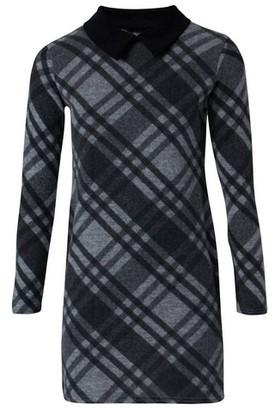 Dorothy Perkins Womens *Izabel London Grey Check Print Shift Dress, Grey
