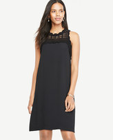 Ann Taylor Crochet Yoke Shift Dress