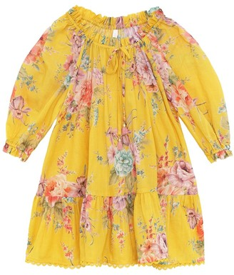 Zimmermann Kids Zinnia Smock Dress in Golden Floral
