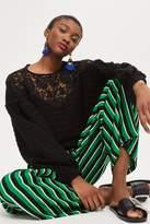 Topshop Crochet insert top
