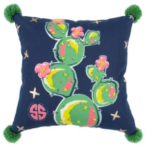 """Rizzy Home Simply Southern 18"""" x 18"""" Floral Down Filled Pillow"""