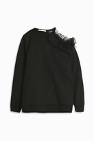 Christopher Kane Cut Away Sweatshirt With Frill
