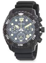 Bulova Sea King Stainless Steel Chronograph Rubber-Strap Watch