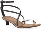 Brunello Cucinelli PVC Kitten-Heel Sandals
