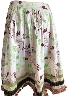 Erotokritos Multicolour Cotton Skirt for Women