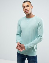 Esprit Fine Knit Sweater with Raglan Sleeve Detail in Blue