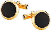 Montblanc stainless steel gold-plated black onyx cufflinks