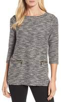 Chaus Women's Zip Pocket Slubby Knit Top