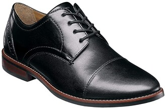 Nunn Bush Fifth Ward Flex Cap Straight Toe Oxford (Black) Men's Shoes