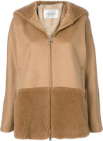 Max Mara teddy trim hooded jacket