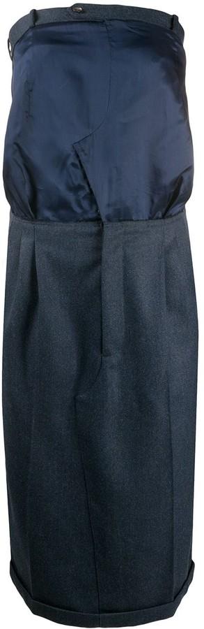 Maison Margiela Strapless Knee-Length Dress
