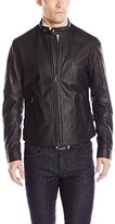 Vince Men's Essential Leather Moto Jacket