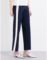 Mo&Co. Colour-block knitted jogging bottoms