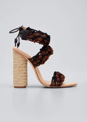 Ulla Johnson Debra Crocheted Block Heel Sandals