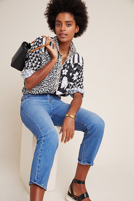 Maeve Fern Buttondown By in Black Size XS