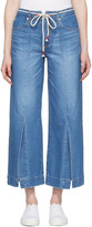 Sjyp Blue Wide Slit Jeans