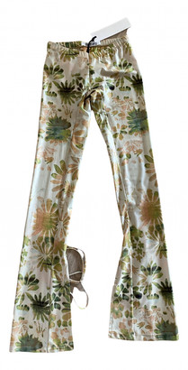Charlotte Knowles Green Spandex Trousers for Women