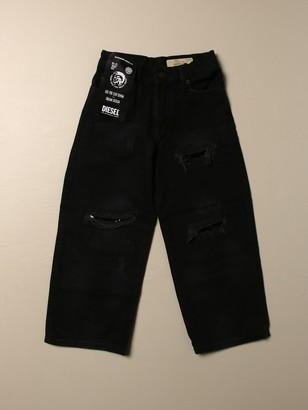 Diesel 5-pocket Denim Jeans With Rips