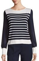 Alberta Ferretti Long Sleeve Striped Blouse