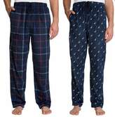 Nautica Men's 2 Pack Soft Suede Fleece Pajama Pants Bottoms