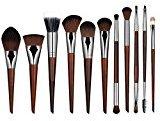 AutumnFall 11 PCs Pure Handmade Makeup Brushes Powder Concealer Eyebrow Eyeliner Blush Brush