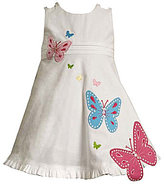 Bonnie Jean Toddler Butterfly-Appliqued Sundress