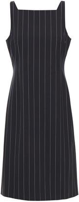 Theory Pinstriped Stretch-wool Dress