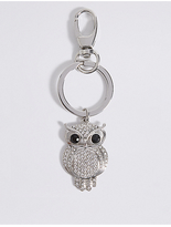 M&S Collection Pave Owl Keyring