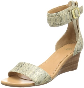 UGG Women's Char Metallic Wedge Sandal