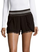 Hale Bob Fringed Cover-Up Shorts