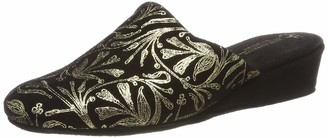 Hans Herrmann Collection Womens Lucca Slippers Black Size: 7